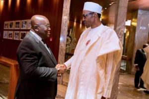 Buhari to open Nigeria border after meeting with Akufo-Addo