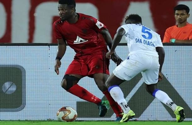 Asamoah Gyan injured in the Indian Super League