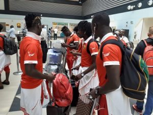 VIDEO: Kotoko arrive in Accra for Legon Cities match with 18 man squad