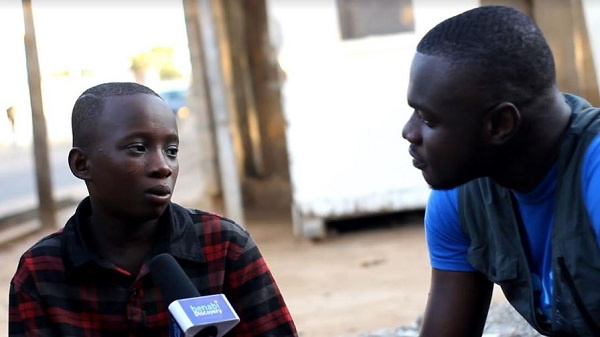 VIDEO: Boy shares sad story on how he ended up on the streets