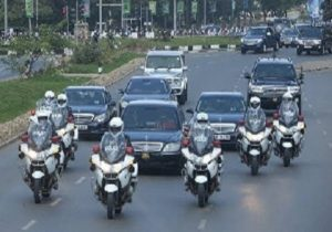 VIDEO: Akufo-Addo travels with about 50 vehicles to the Volta Region