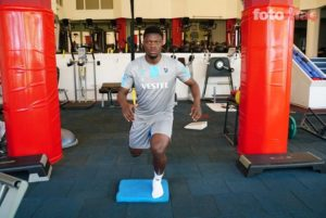 PHOTOS: Caleb Ekuban steps up recovery from injury