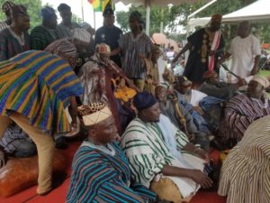 PHOTOS: Ya-Na Mahama Abukari pays a historic visit to Manhyia