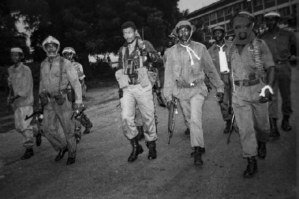 Image result for comRare photo of Rawlings after an attempted coup d'etat«