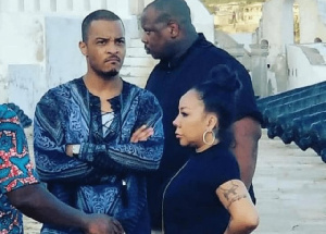 PHOTOS+VIDEO: Rapper TI and wife make emotional visit to Cape Coast castle