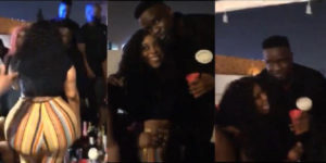 VIDEO: Jaye Love, lady with the huge backside meets Sarkodie