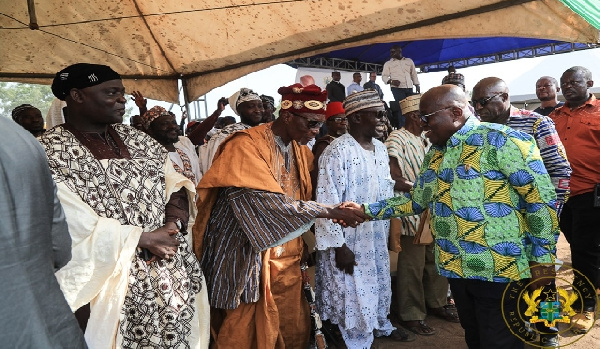 'You're an action man' – Ngleshie Amanfro chief praises Akufo-Addo over 1D1F