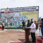 A/R: President Akufo-Addo cuts sod for Creative Arts SHS, Kufuor school