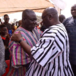 Dr Bawumia surprises NDC's Isaac Adongo at mother's funeral