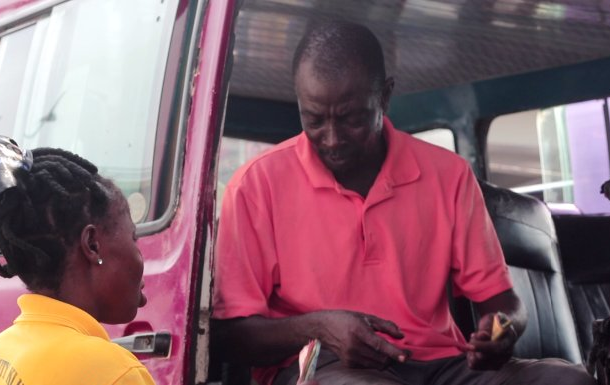 Trotro Driver and soul mate spreading love in transit