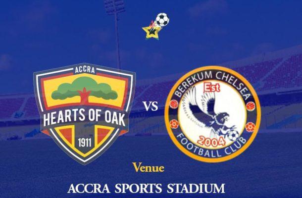 GhPL match week 1 preview: Hearts of Oak welcome Berekum Chelsea.