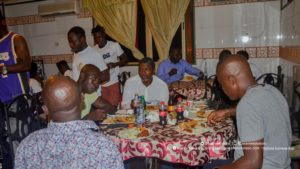 PHOTOS: Maxwell Konadu dines with his players