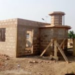 Yussif Chibsah through his foundation constructing a mosque in Damongo