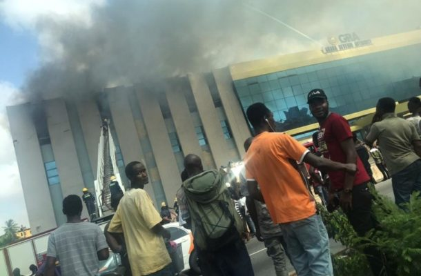 Photos+Video: Fire guts GRA offices near Kwame Nkrumah Circle
