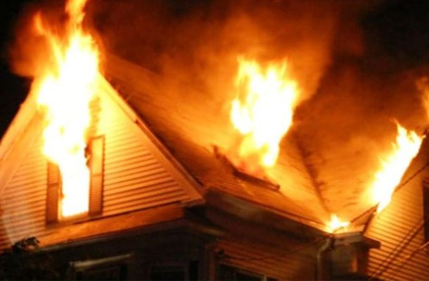 Angry wife sets 'cheating' Husband's home on fire at Fadama