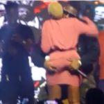 VIDEO: Medikal smooches Fella Makafui on stage