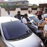 PHOTOS: Shatta Wale dashes two cars to his most loyal fans