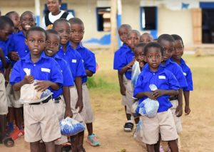 E/R: Bryan Acheampong Foundation gives free uniforms to basic schools