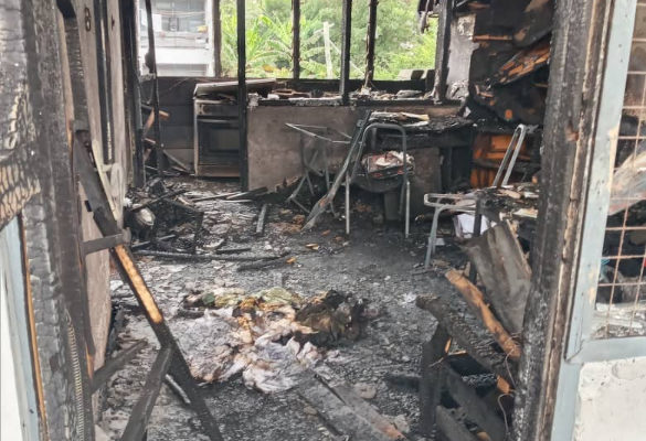 PHOTOS: Fire destroys 4 rooms at 37 Army Officers Mess