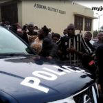 Kumasi hotel shooting: Couple remanded into prison custody as victim's family storm court