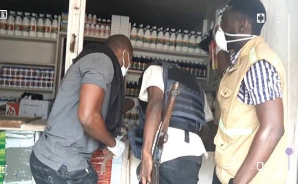 Police clamp down on illegal insecticide production facilities at Odorkor