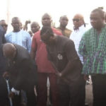 President Akufo-Addo cuts sod for construction of Alajo AstroTurf