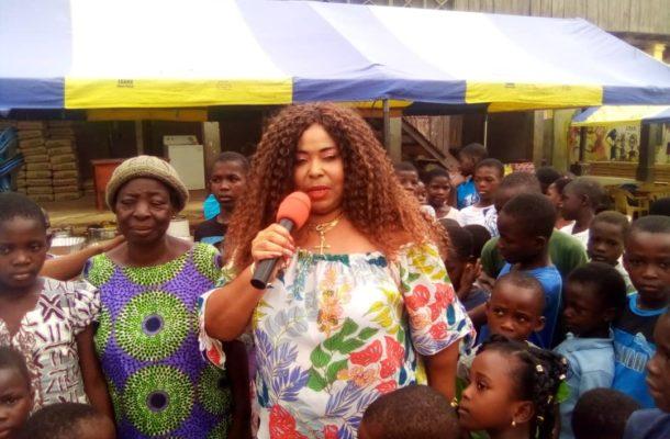 Philanthropist Gifty Cherry Brown feed over 200 kids at Dodowa