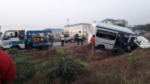 PHOTOS: Several people injured in an accident on Accra-Tema motorway