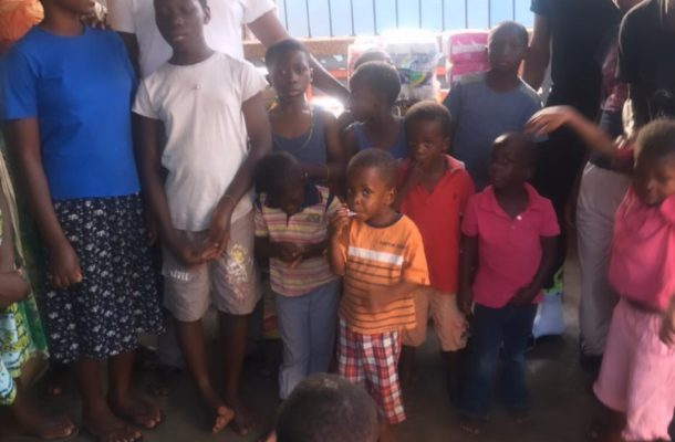 Abdul Fatawu Safiu donates to Frankmay New Life Foundation Children's home
