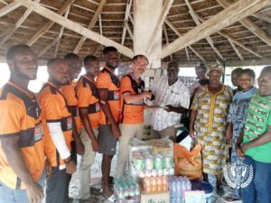 PHOTOS: Legon Cities donate to Echoing Hills Village ahead of Kotoko clash