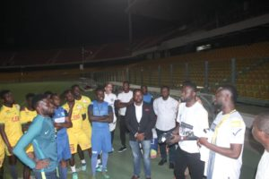 PHOTOS: Bright Addae makes donation to former team Legon Cities