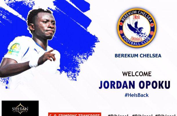 Jordan Opoku re-joins Berekum Chelsea