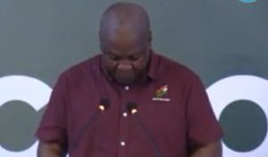 VIDEO: Mahama weeps at launch of Electronic Fund-raising Platform