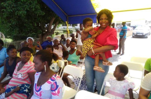 MASLOC boss fetes sick children at Koforidua Central Hospital