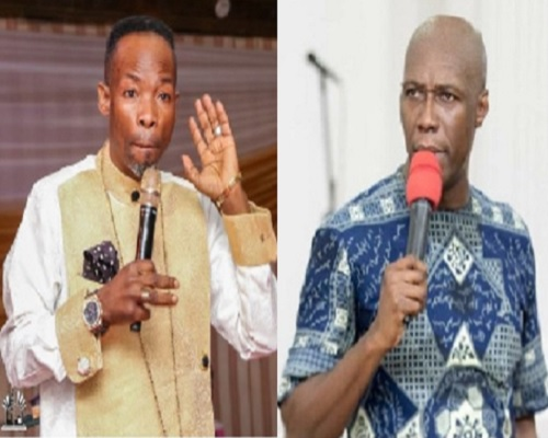 VIDEO: You drink 'akpeteshie' so you are not anointed - Prophet Amoako angrily blasts Prophet Oduro