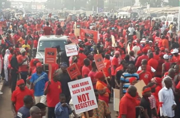 PHOTOS: Thousands hit streets in Tamale against new voters register