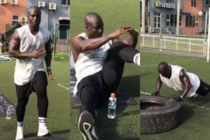 Video: Ghana legend Stephen Appiah shows he is still fit