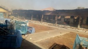 PHOTOS: Fire guts Buipe SHS girls' dormitory