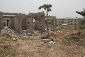 Tension at Akyem Osiem as Saviour Church forcefully demolishes buildings