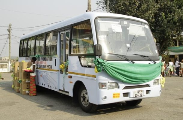 Otumfuo Charity Foundation donates bus to Wesley Girls High School
