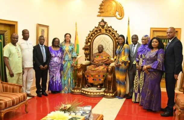 PHOTOS: EC visits Otumfuo Osei Tutu II at Manhyia Palace