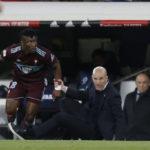 Ghanaian defender Joseph Aidoo apologises to Zinedine Zidane after a heavy boot