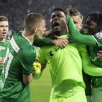 Lawrence Ati-Zigi saves penalty before referee allows retake in Young Boys draw