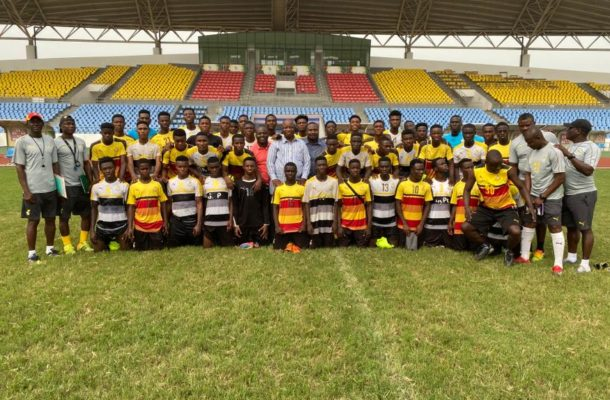 Black Starlets Management Committee visit team's camp in Cape Coast