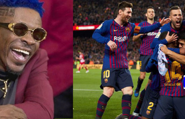 SM to the world: Barcelona players enjoy Shatta Wale's 'Borjor' in dressing room