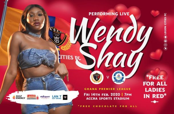 GPL: Wendy Shay rallies support for Legon Cities ahead of Olympics clash