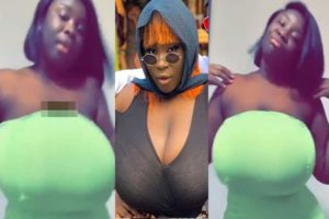 VIDEO: Maame Serwaa causes confusion on the internet with her huge 'melons'