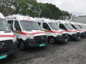 VIDEO: Akufo-Addo's ambulance used to transport bags of cement