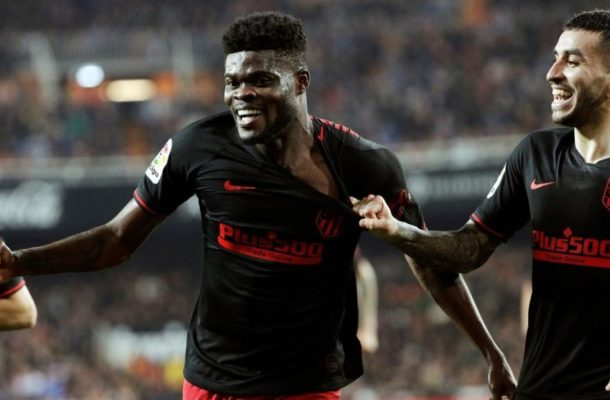 VIDEO: Thomas Partey scores in Athletico's 2-2 draw with Valencia