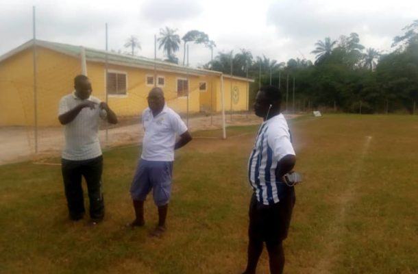 2019/2020 Division two league :Central Regional inspection team begins venue inspections today at Glow Lamp Soccer Academy